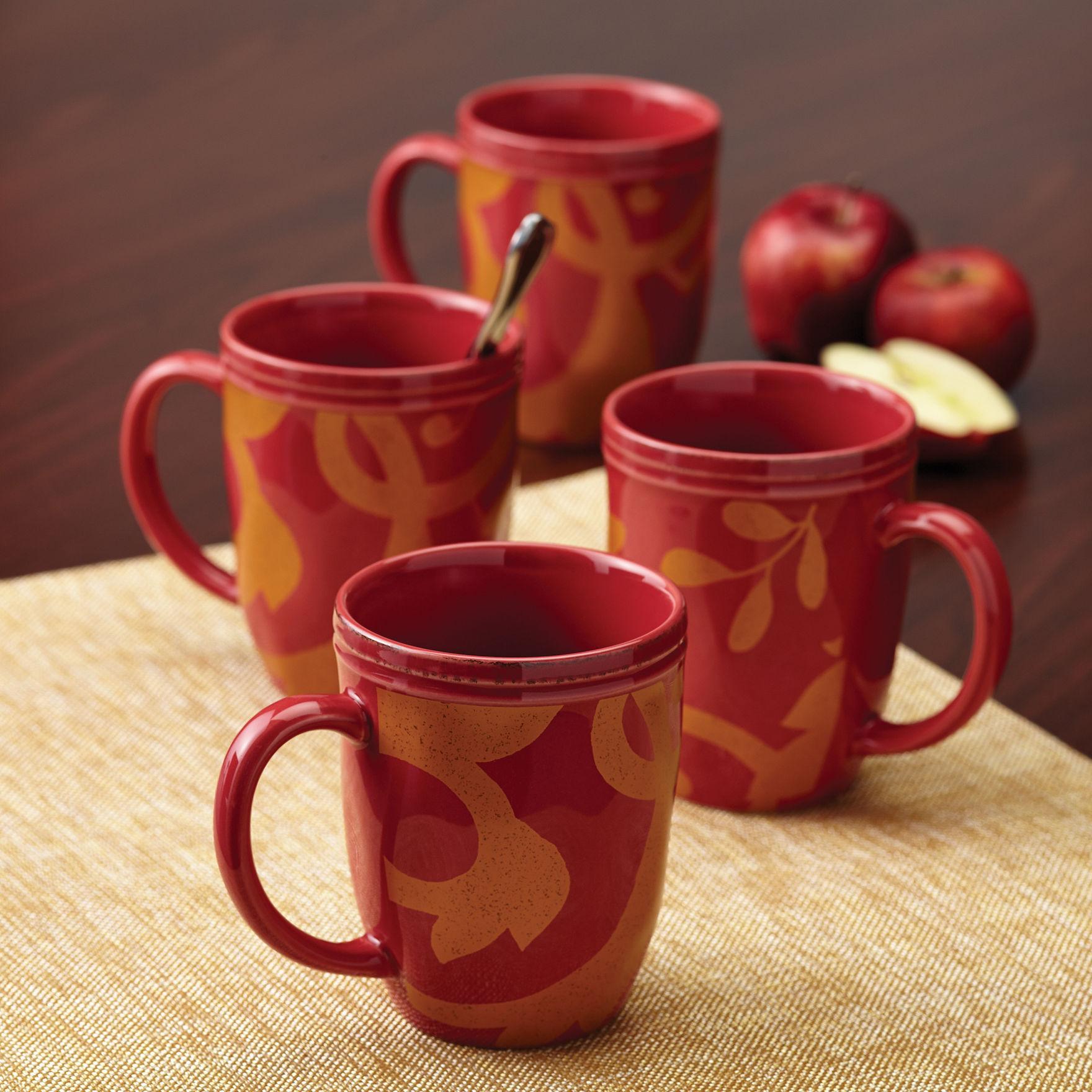 Rachael Ray Cranberry Mugs Drinkware