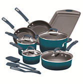 Rachael Ray 14-pc. Hard Enamel Nonstick Cookware Set