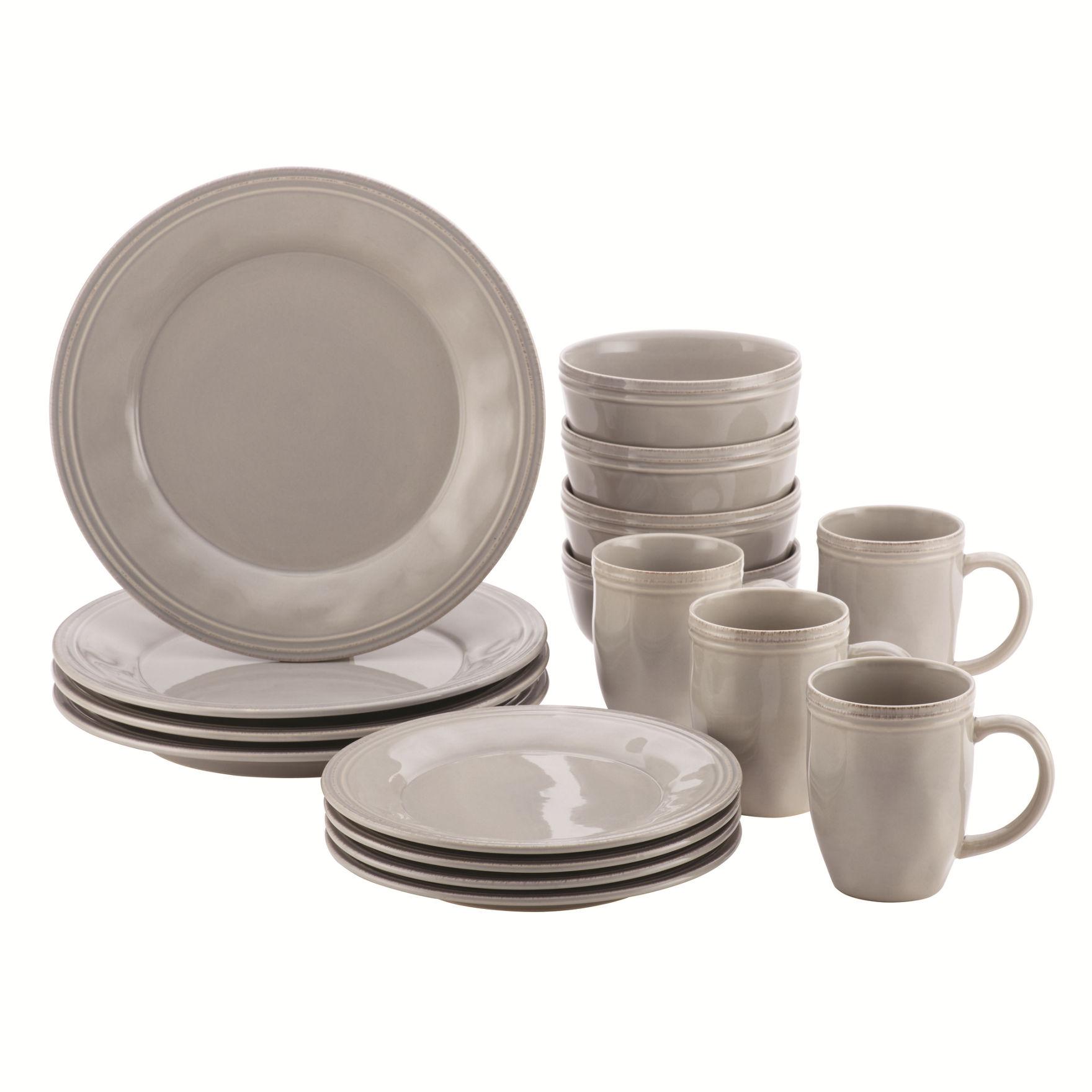 Rachael Ray Grey Dinnerware Sets Dinnerware
