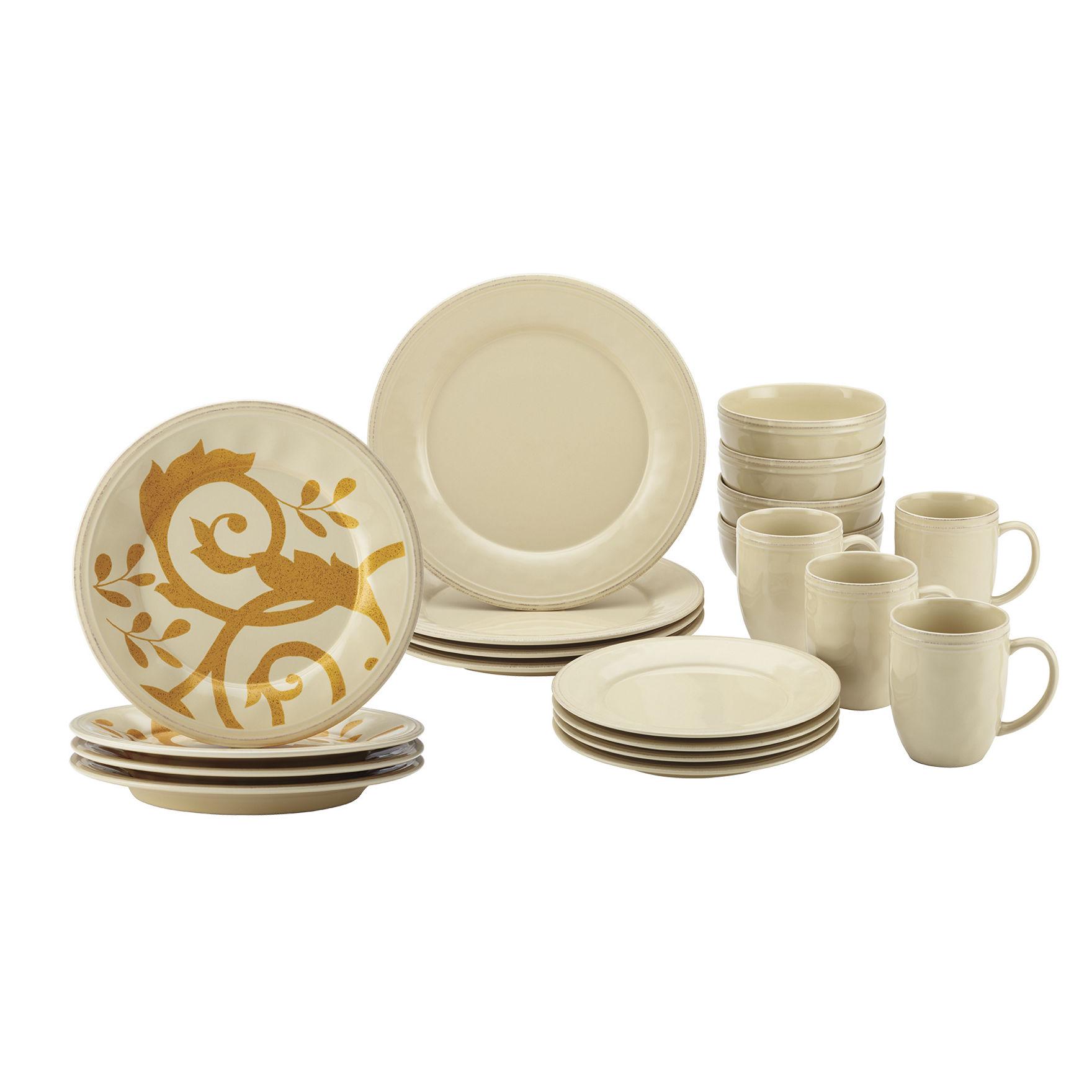 Rachael Ray Cream Dinnerware Sets Dinnerware