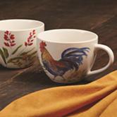 Paula Deen® 2-pk. Garden Rooster Jumbo Mugs