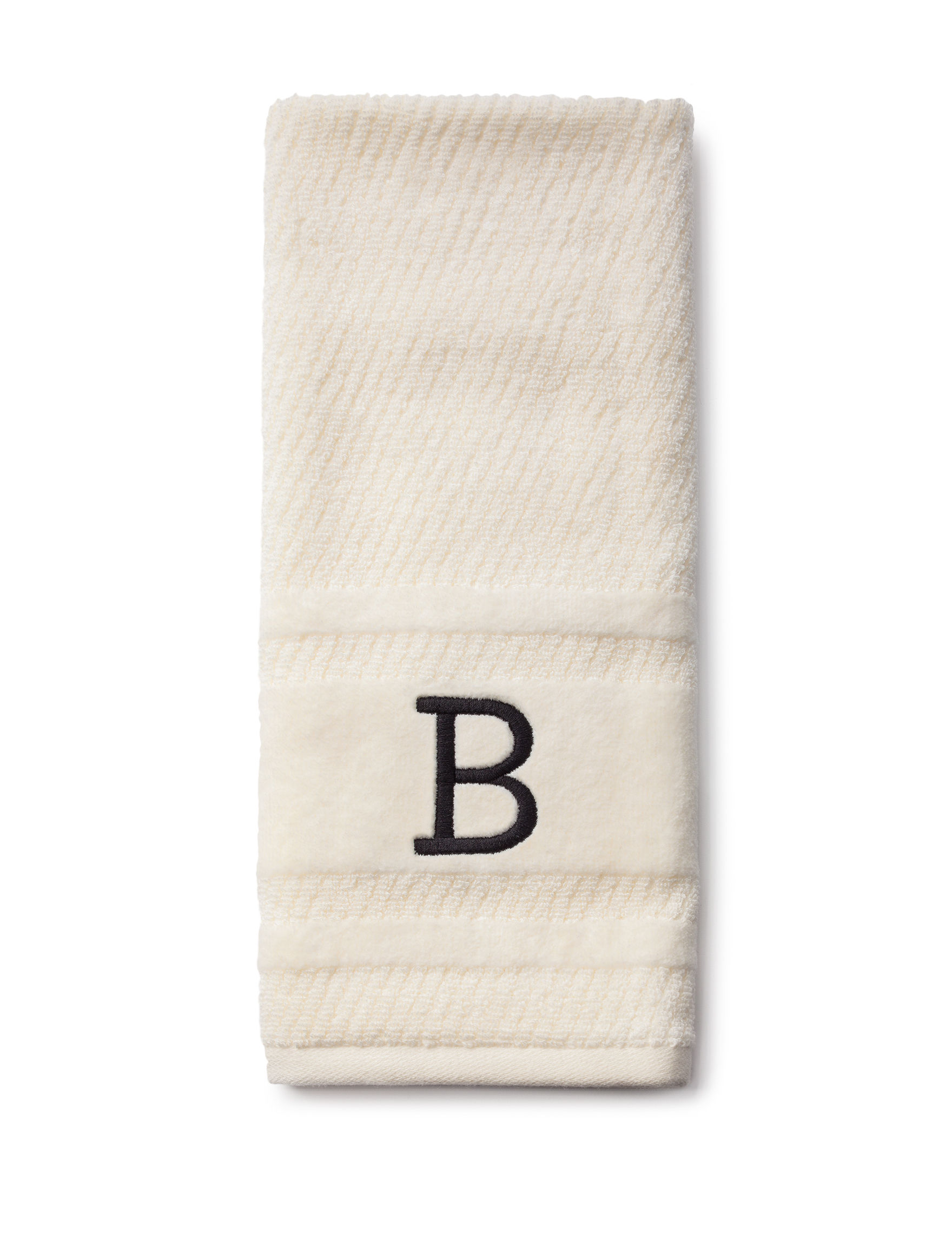 Peri Ivory Hand Towels Monogram Towels