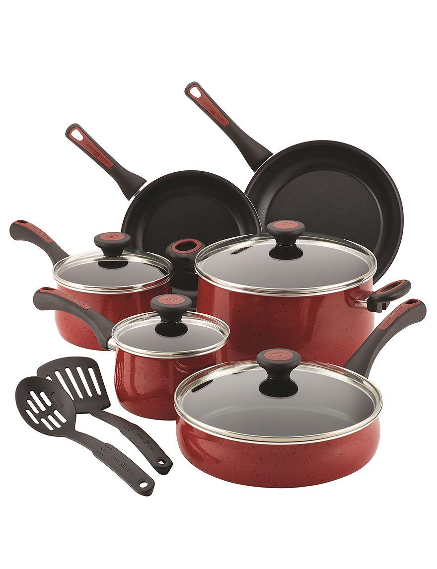 Paula Deen Red Cookware Sets Cookware
