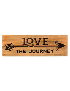 Print Love The Journey Wall Plaque