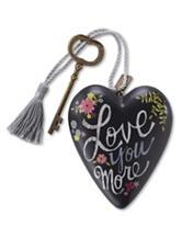 Love You More Art Heart Sculpture