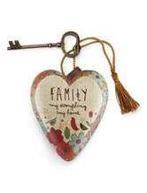 Family Is My Everything Heart Art Sculpture