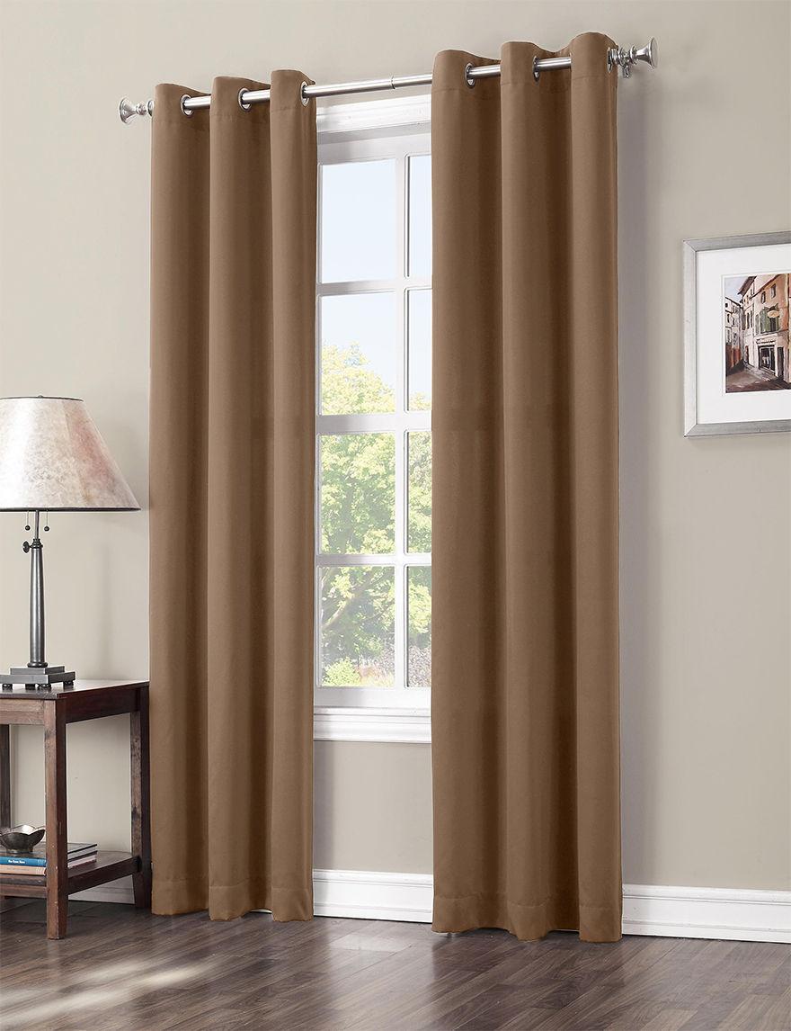 Lichtenberg Taupe Curtains & Drapes Window Treatments