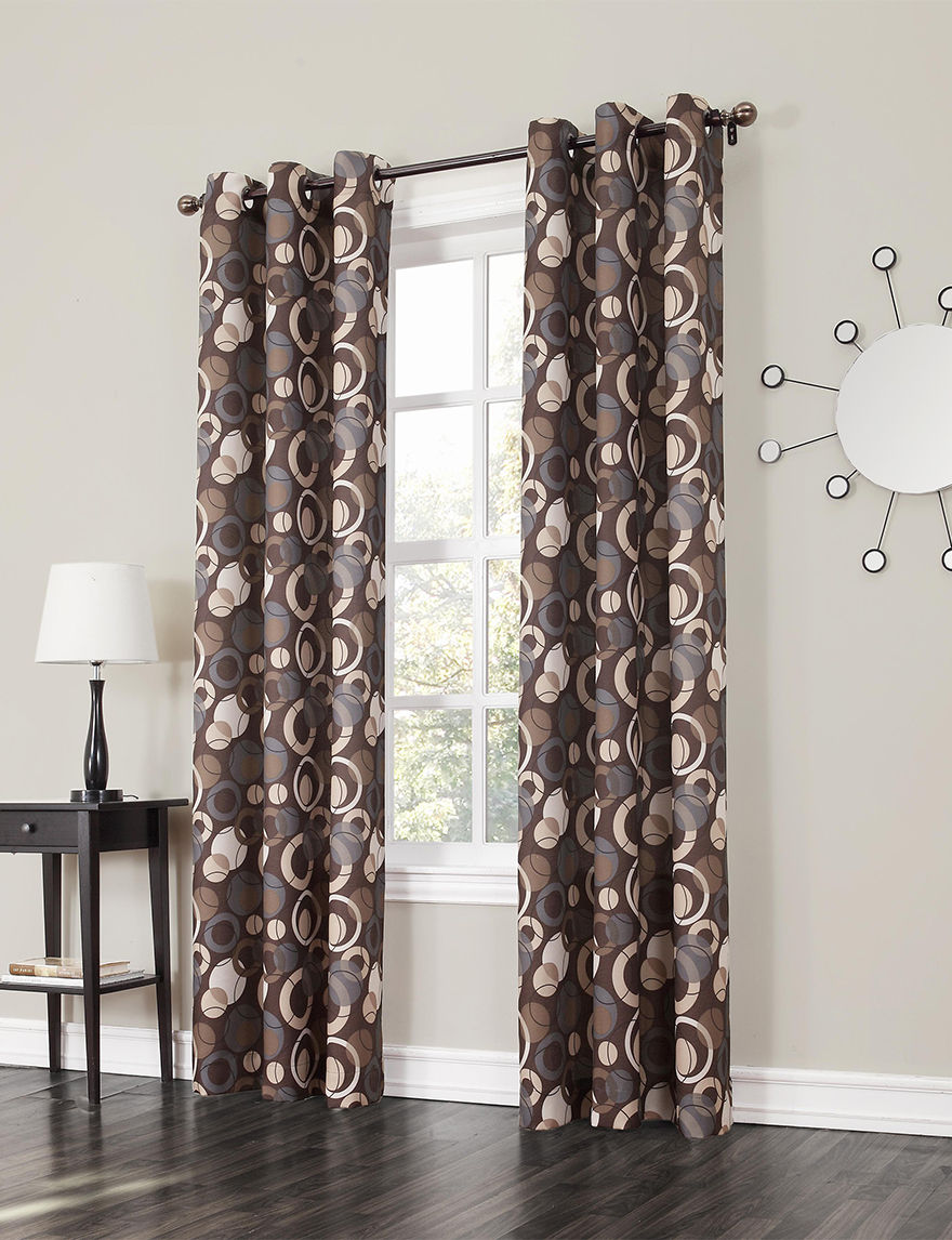 Lichtenberg Chocolate Curtains & Drapes Window Treatments
