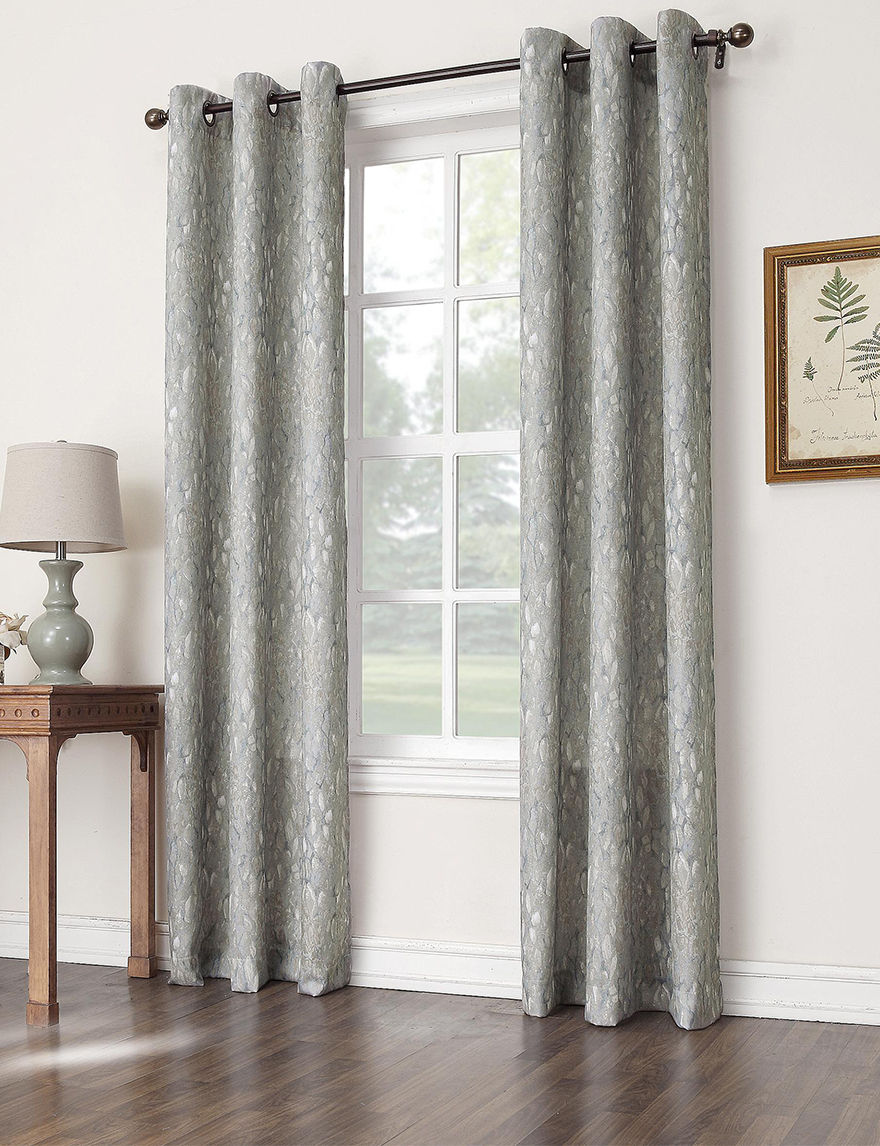 Lichtenberg Harbor Blue Curtains & Drapes Window Treatments