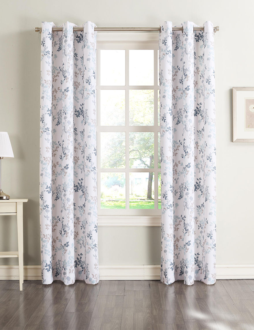 Lichtenberg Harbor Blue Curtains & Drapes