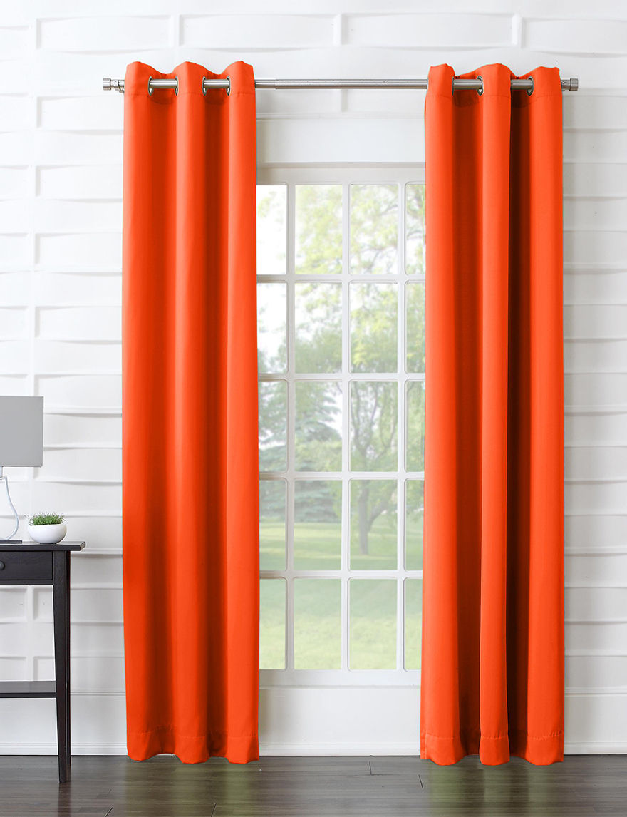 Lichtenberg Tangerine Curtains & Drapes Window Treatments