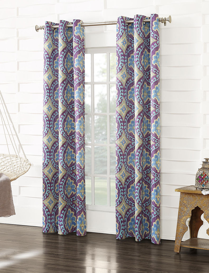 Lichtenberg Magenta Curtains & Drapes Window Treatments