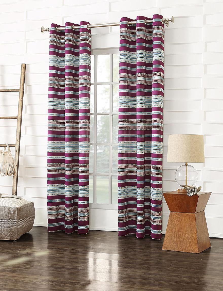 Lichtenberg Magenta Curtains & Drapes