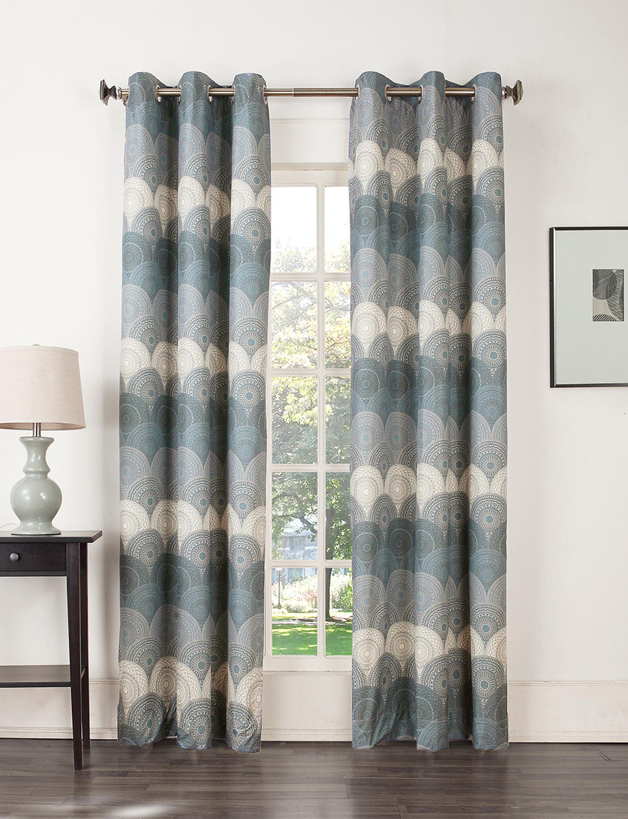 Lichtenberg Navy Curtains & Drapes