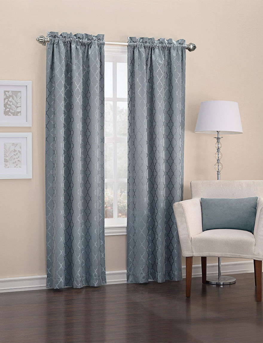 Lichtenberg Teal Curtains & Drapes