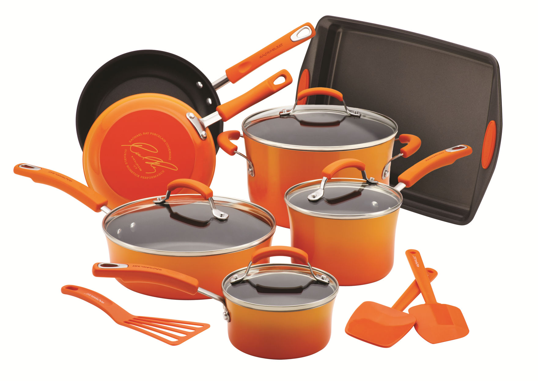 Rachael Ray Orange Cookware Sets Cookware