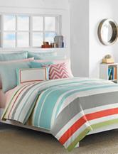 Nautica Taplin 3-pc. Stripe Print Reversible Comforter Set