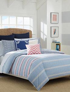 Nautica Destin Stripe Print Reversible Comforter Set