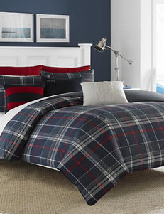 Nautica Booker Plaid Print Reversible Comforter Set