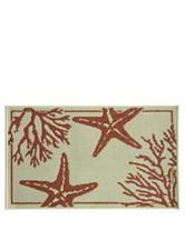Bacova Guild Standsoft Mini Check Star Fish Slice Rug