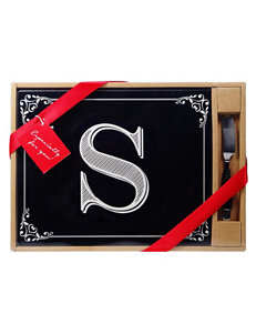 Home Essentials Monogram Cutting Board & Knife - Gift Boxed