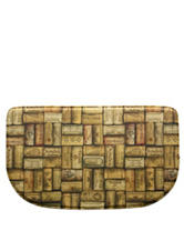 Bacova Guild Standsoft Wine Cork Slice Rug