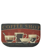 Bacova Guild Standsoft Mini Check Coffee Shop Slice Rug