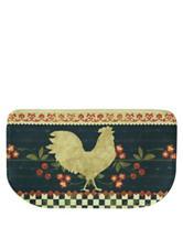 Bacova Guild Standsoft Mini Check Retro Rooster Slice Rug