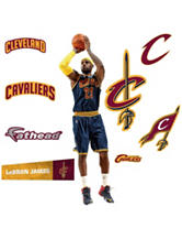 Fathead 9-pc. LeBron James Cleveland Cavaliers Wall Decals