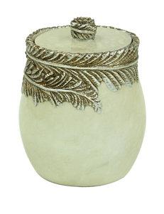 Jessica Simpson Ivory Trays & Jars Bath Accessories