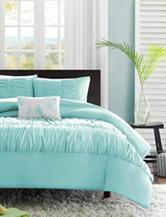 Mizone Mirima 4-pc. Blue Ruched Comforter Set