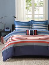 Mizone Kyle 4-pc. Stripe Print Comforter Set