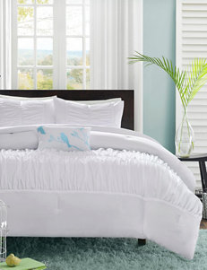 Mizone Mirima 4-pc. White Ruched Comforter Set