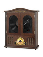 Victrola Wood Wall Mount Bluetooth CD Record Player