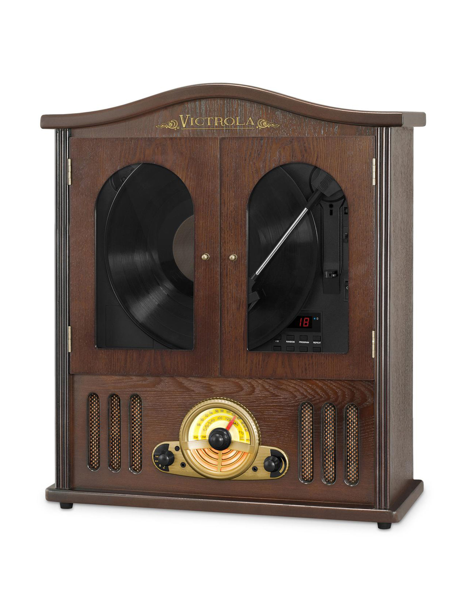 Victrola Mahogany Speakers & Docks Home & Portable Audio