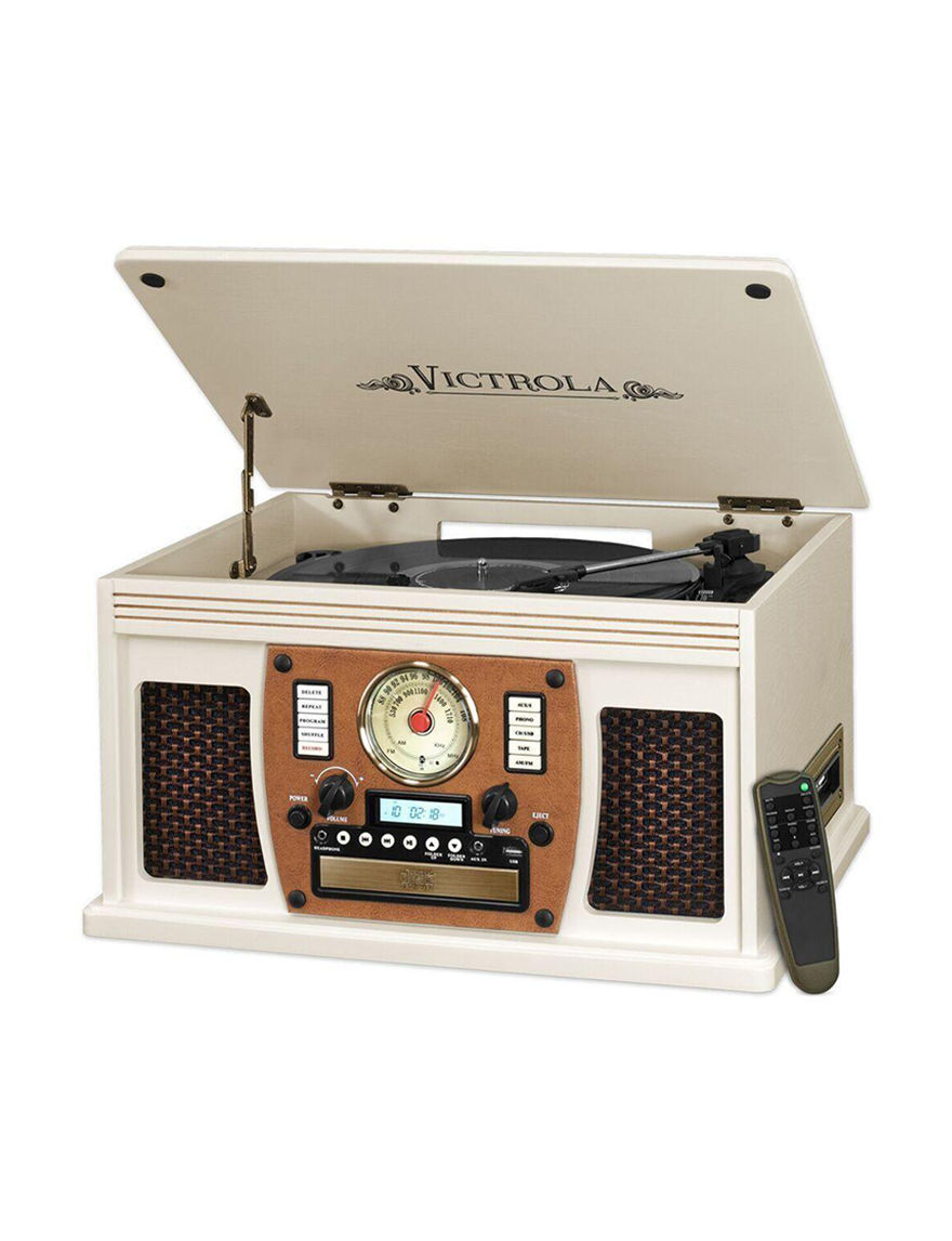 Victrola White Speakers & Docks Home & Portable Audio