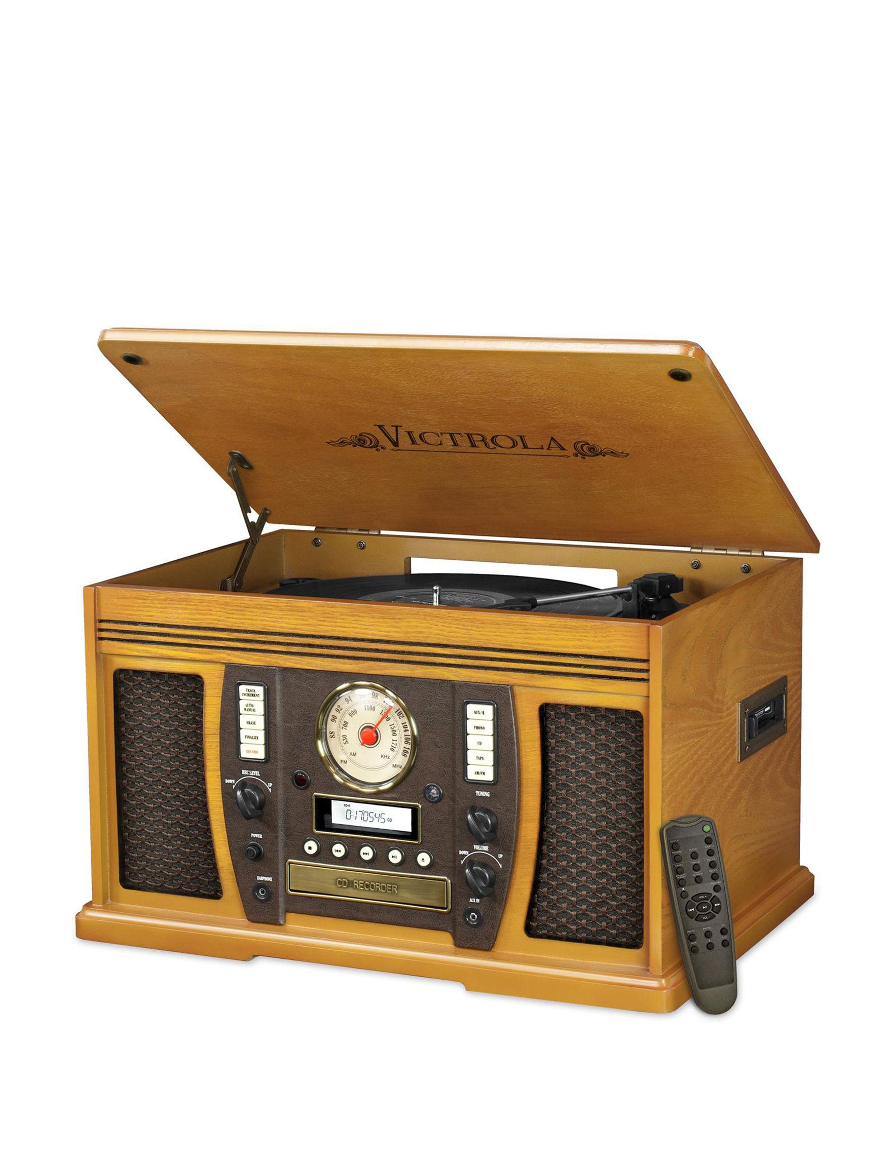 Victrola Oak Speakers & Docks Home & Portable Audio