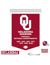 Fathead 5-pc. Oklahoma Sooners Football National Championships Banner Wall Decals