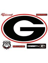 Fathead 6-pc. Georgia Bulldogs Logo Wall Decals