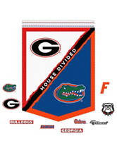 Fathead 10-pc. University of Florida & Georgia Bulldogs House Divided Banner Wall Decals
