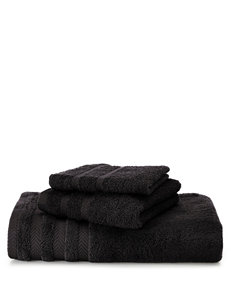 Martex Black Washcloths Towels
