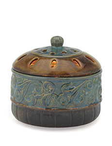 Candle Warmers Azure Scroll Candle Aire Fragrance Warmer
