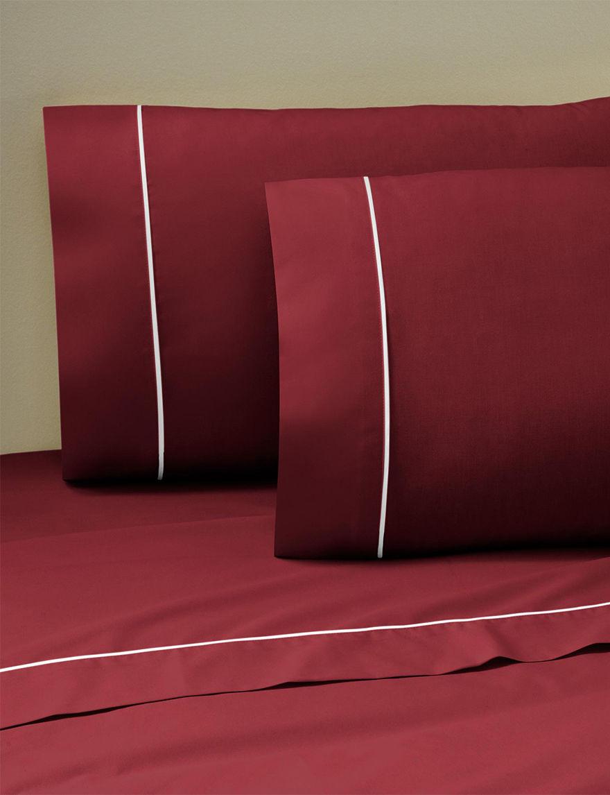 Martex Burgundy Sheets & Pillowcases