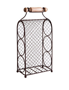 Home Essentials 3-Tier Bronze-Tone Tabletop Wine Rack