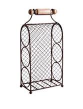 Home Essentials 3-Tier Bronze-Tone Tabletop Wine Rack