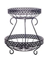 Home Essentials 2-Tier Braided Metal Basket