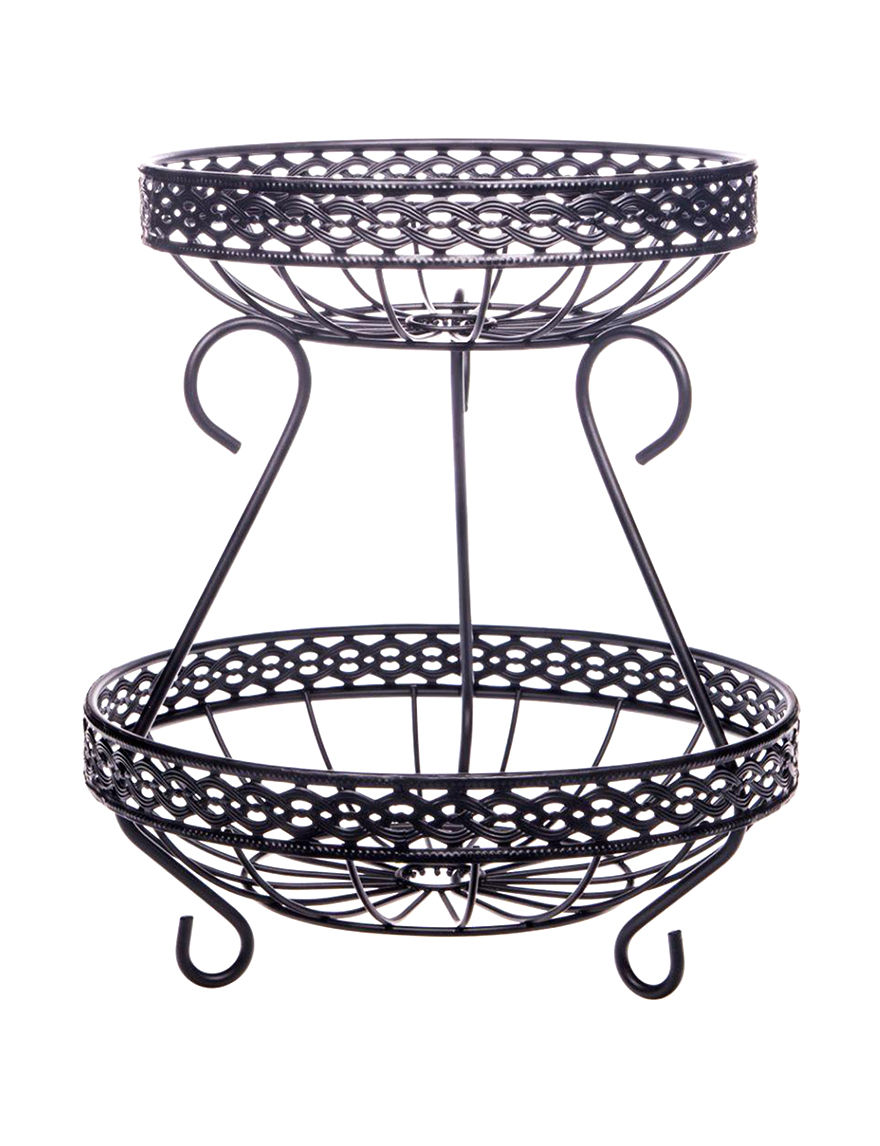 Home Essentials Black Cake Stands & Tiered Servers Serveware