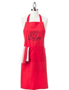 Mu Kitchen 2-pc. All Things Are Possible Apron & Dishtowel Gift Set