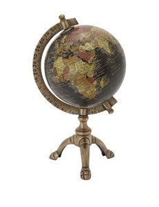 Benzara Metallic Tabletop Globe