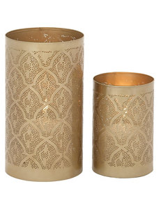 Benzara 2-pc. Artistic Golden Candle Lanterns